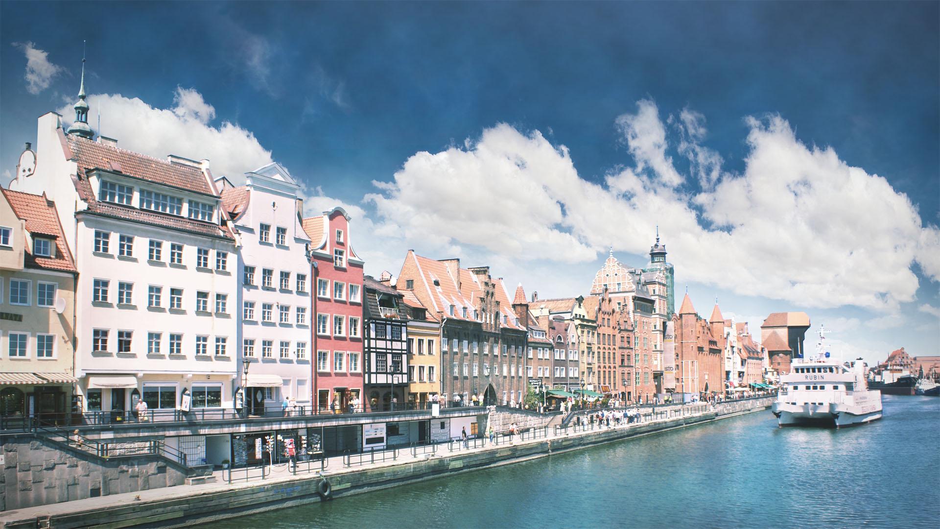 Statek wpływający do Gdańska